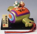 ご年配の方へのお誕生日や敬老の日のプレゼントに最適! 陶器製 打ち出の小槌乗り高砂