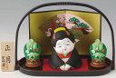 陶器製 お正月飾り 手提げ盆のり お福さん人形と門松 明けま...