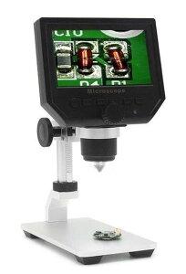 600 X 4.3 LCDディスプレイ携帯電話のメンテナンスのための3.6MP電子デジタルビデオ顕微鏡ポータブルLEDの拡大鏡メタルスタンド