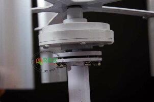 小さな垂直軸風力タービン発電機20W、DC12Vの風力発電機5枚のブレード【領収発行可】