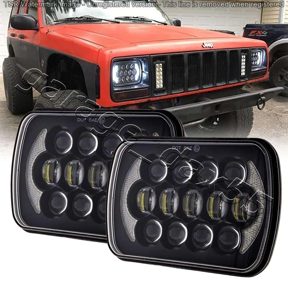 ライト・ランプ, ヘッドライト  LED AE86 KP61 JZA70 FC3S 180SX 105W H4 LowHi DRL 57