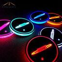 ●LED カーコースター 光センサー カップマット ミニクー...