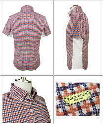 【送料無料】【ROCK・DUDE/ロックデュード】異素材切替S/Sシャツメンスポロシャツ11-175301
