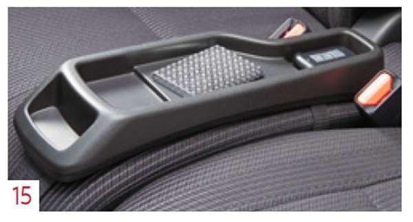 『デイズ ルークス』 純正 B21A シートコンソール ブラック(フロントシートクッション置き、ベルト固定) パーツ 日産純正部品 オプション アクセサリー 用品画像