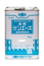 【送料無料】水性ケンエース(艶消白)屋内外部塗料:16kg