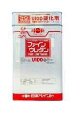 【送料無料】ファインウレタンU100(白/ホワイト:艶有)15kgセット<日本ペイント>コンクリ・モルタル・金属など