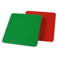 LEGOレゴduploデュプロ大型基礎板9071緑赤基盤V95-5900