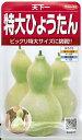 野菜種子 ウリ種 『 サカタのタネ 』 天下一特大ひょうたん 5ml袋詰 【 送料無料 】