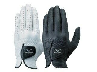 [Mizuno~美津濃]紳士高爾夫球服裝配飾手套手套(一衹手/左手穿用)[01:白](衹尺寸:26cm)