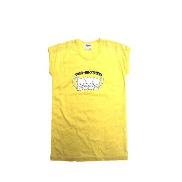 【訳あり】■日本製 肩レース半袖Tシャツ 150cm■ロゴ/レース/半袖/Tシャツ キッズ/かわいい/韓国子供服/イエロー/楽天スーパーセール/女の子/キッズ半袖Tシャツ/ねこ/プリント/刺繍/キャット/アニマル/動物/猫【RCP】(5002021)