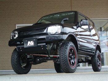 RAYSGlamLights57JXブラック/レッドリング車両装着イメージ