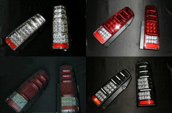 【右上:レッドレンズ】【右下:ブラック】【左上:クローム】【左下:スモークレッド】