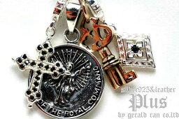 【送料無料】4チャームマルチペンダント/シルバー925/silver/コイン/クロス/キー/ダイヤ/チャーム/メンズ/レディース/アクセサリー/