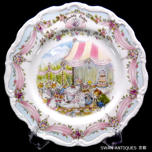 ロイヤルドルトンRoyalDoultonブランブリーヘッジウエディング飾り皿プレート廃盤品