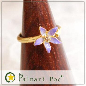 Palnart Poc パルナートポック リング キキョウ  Brough Superior ブラフシューペリア  桔梗 指輪 ききょう 花 フラワー 紫 キレイ 大人 かわいい アクセサリー p2p2