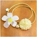 ガーグル gargle summer flower ヘアゴム・ホワイト お花 ヘアアクセサリー qqpq 2