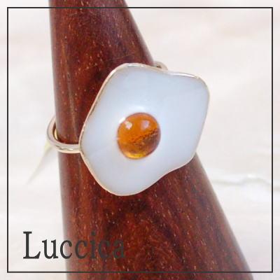 ルチカ Luccica egg リング フリーサイズ 目玉焼きをモチーフにした指輪メール便可能【卵 たまご エッグ】 ギフト プレゼント アクセサリー ラッピング無料 レディース P20