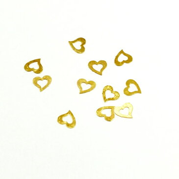 レジンやネイルアートに!「ぷっくりハート」 極薄メタルパーツ 10枚セット n6【RCP】