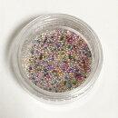 (1861)【ミニチュアパーツ】ガラスドロップキャンディポップカラーMIXマイクロサイズ約1g入り