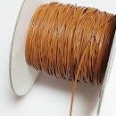 (LS61)【副資材】高品質レザーストラップ平紐ライトブラウン薄茶1mm幅本革テープコード10cmカット売り皮紐