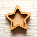(a6)ナチュラルウッドベースフレーム枠(ミール皿・セッティング台)スターLサイズ星天体レジンに!【予約販売】