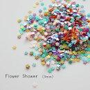 (r94)カラフルグリッター花型フラワー3mm約150枚入レジンやネイルにオススメ♪