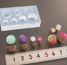 (S429)シリコンモールドクリームカップケーキお菓子スイーツ立体4サイズ