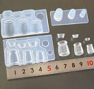 (S657)シリコンモールドキッチン雑貨ヨーグルトボトル蓋付きビン立体3サイズ
