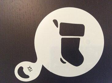 (SST61)【アウトレット】カフェラテアート ステンシル プレート 靴下