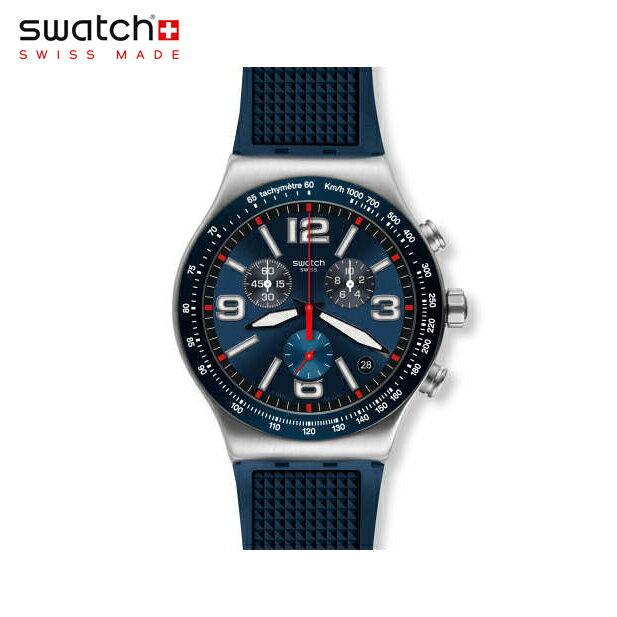 腕時計, メンズ腕時計 Swatch BLUE GRID YVS454Irony() New Irony Chrono() ()