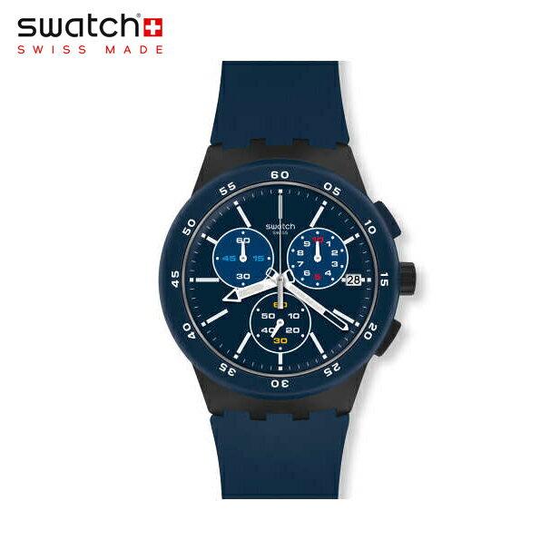 腕時計, メンズ腕時計 Swatch BLUE STEWARD SUSB417Originals() Chrono Plastic() ()