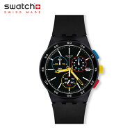 【公式ストア】SwatchスウォッチBLACK-ONEブラックワンSUSB416Originals(オリジナルズ)CHRONO(クロノ)【送料無料】(素材)ベルト:シリコンケース:プラスティックメンズレディース腕時計人気定番プレゼント
