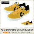 コンバース CONVERSE XL CHEVRONSTAR SK BEAK REACT OX スニーカー sneaker メンズ 男性用 ゴールド/ブラック/25.0 25.5 26.0 26.5 27.0 通学 学校