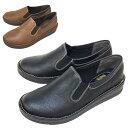 レディース靴 ウィルソンリー 5851 スリッポン カジュアルシューズ コンフォートシューズ 幅広 ブラック ワイド