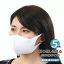 メール便 送料無料 洗える 伸びるマスク 個包装 5枚組 白