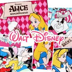 超大人気!!2/19 再入荷!ディズニー 不思議の国のアリス かわいい 生地 ポップ