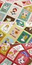 11/29 大人気です!連日の再入荷!!綿麻キャンバス 童話の切手