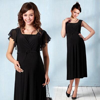 ●特別価格!●フリル袖で華やかシーン、袖を外してシンプルコーデ 授乳服とマタニティで兼用の...