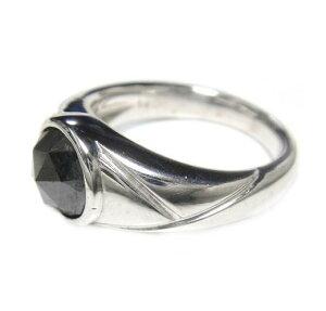 【メンズローズカット】ブラックビックアイ!シンプルSV2.20ctUPブラックダイヤリング