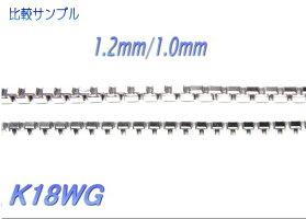 【予約/在庫】【太めシリーズ】1.0mm幅18ベネチアンネックレスチェーン(スライドアジャスター45cm)【18k18金製幅1.0mm】
