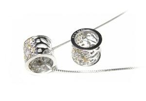エタニティーリング型!8.5mm幅色とりどりのファンシーパヴェ計0.50ctダイヤモンドネックレス