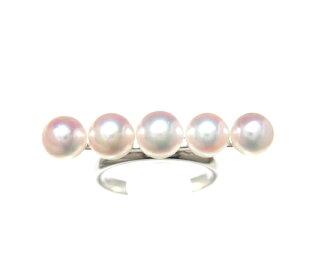 存在的意義的嬰兒珍珠5連!珍珠貝珍珠環