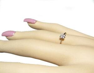 【予約も対応】シンプルハッピーフラワー意外な輝き計0.10ctダイヤモンドリング