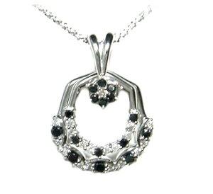 【定番スイング】計0.50ctダイヤ&ブラックダイヤネックレス