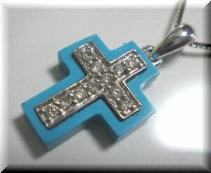 ダイヤクロスネックレス(トルコ)