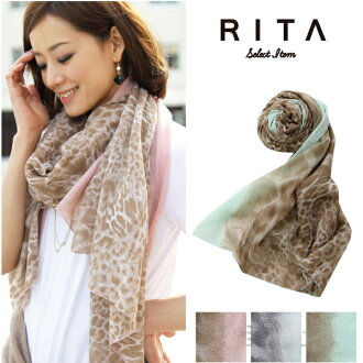 Scarf shawl (Panther) or straw or soft sweet & sheep select Rita small Tan measures heat stroke measures women's Sweet &Sheep select RITA ◆ pastel Leopard print large shawl