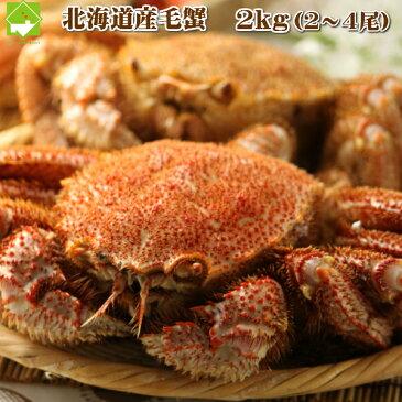 北海道産 毛蟹 4kg(4〜10尾)【送料無料】【10P03Dec16】