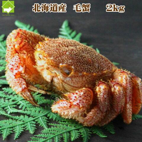 北海道産 最高級 毛蟹 3尾から8尾入 約2kg詰 送料無料