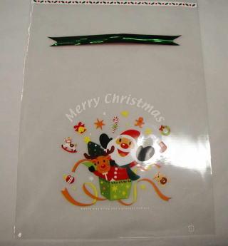 クリスマスクリア袋(ワイヤーリボン付) 全品 送料無料 実施中