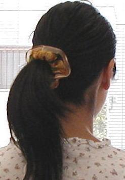 縁どり オーガンジー スカーフ柄 シュシュ (1コ) | レディース キッズ アクセサリー ヘアゴム シュシュ 子供 シンプル まとめ髪 ポニーテール おしゃれ 可愛い かわいい デイリー カジュアル 全品 送料無料 実施中